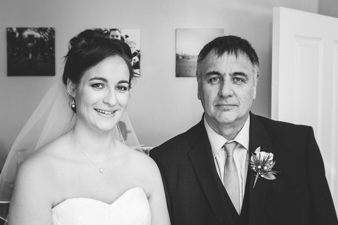 The bride and father of the bride.