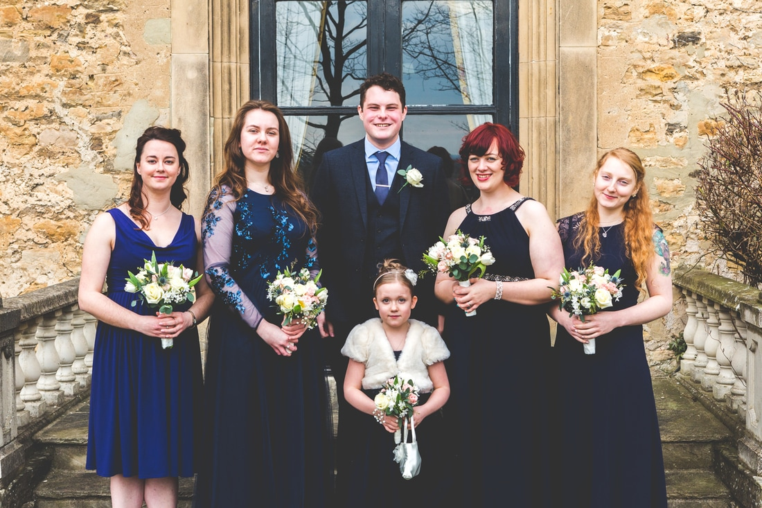 The bridesmaids  - Wedding photography by photographer Mat Robinson