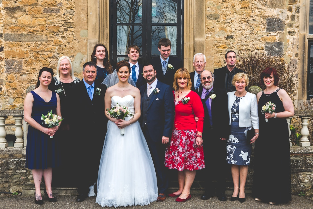 Bride's family photo - Wedding photography by Yorkshire photographer, Mat Robinson