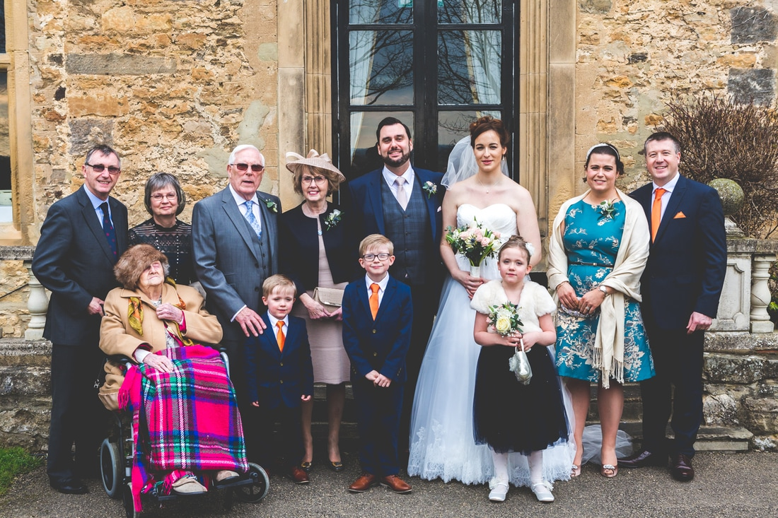 The groom and his family- Wedding photography by Yorkshire photographer, Mat Robinson