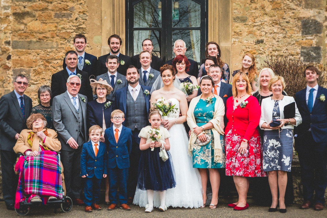 Formal photo of the wedding guests- Wedding photography by Yorkshire photographer, Mat Robinson