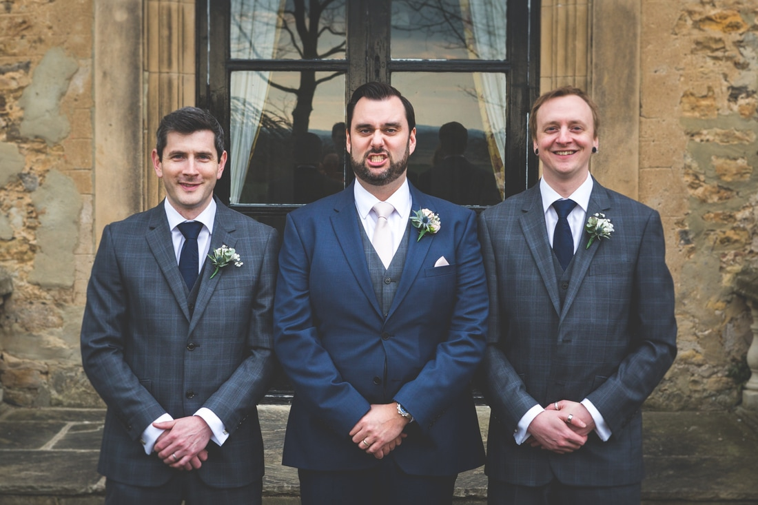 The groom and his best men- Wedding photography by Yorkshire photographer, Mat Robinson