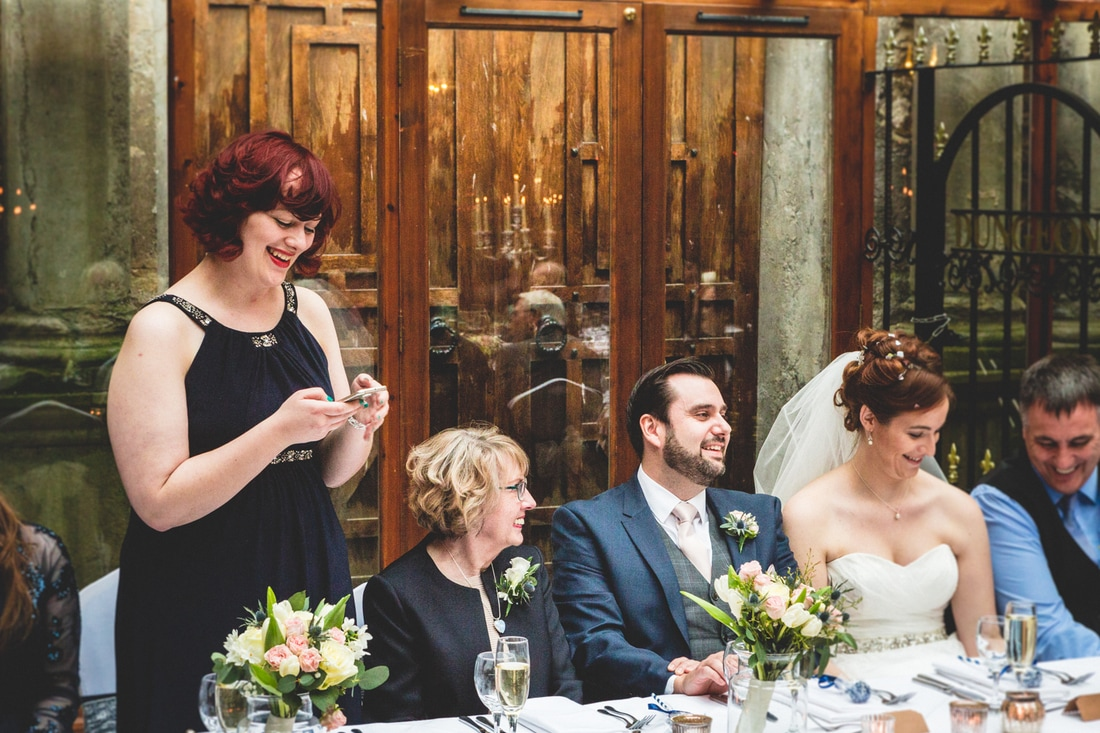 Speech by the maid of honour- Wedding photography by Yorkshire photographer, Mat Robinson