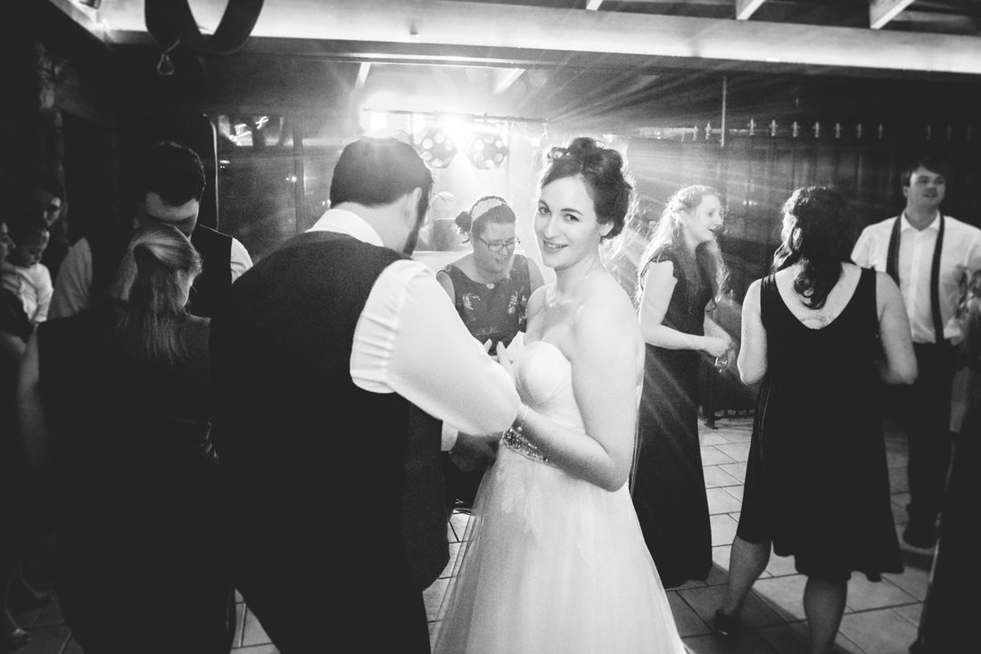 Picture of the bride and groom dancing - Wedding photography by Yorkshire photographer, Mat Robinson