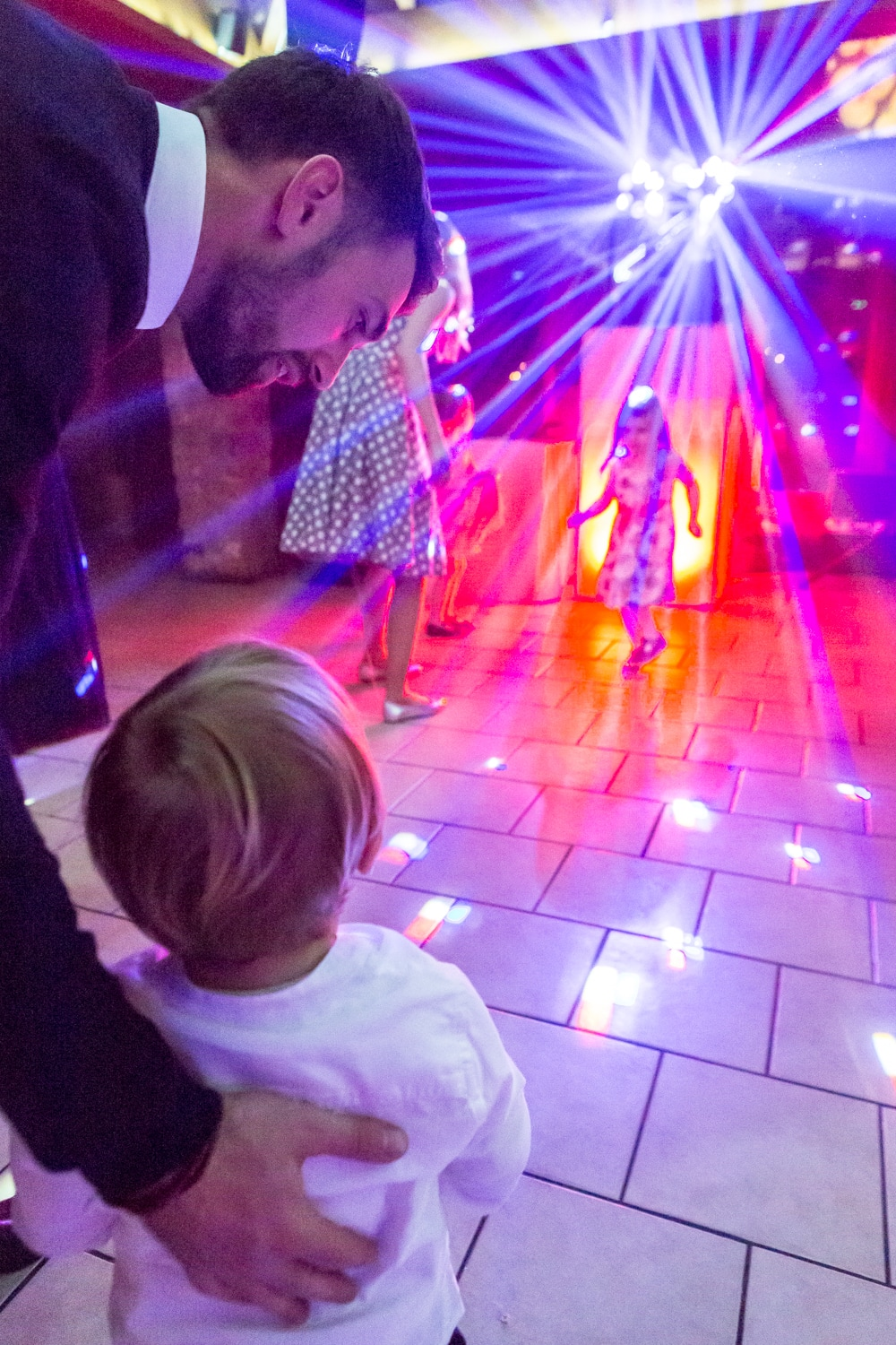 Picture of children dancing at the disco - Wedding photography by Yorkshire photographer, Mat Robinson